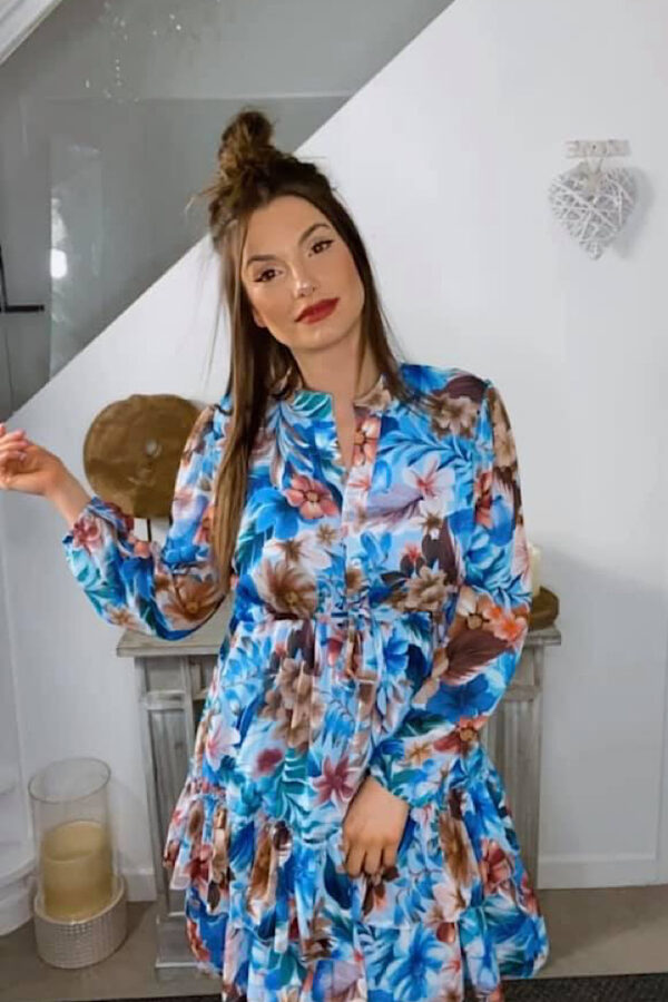 ROBE MANCHES LONGUE IMPRIMEE